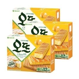 [원더배송] 오리온 오뜨 치즈 12P 288g x 3개