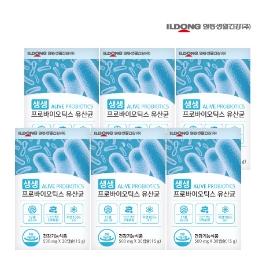 [더싸다특가] 일동생활건강 패밀리 생생 프로바이오틱스 유산균 30캡슐 6박스 총 6개월분