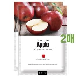 2개기획세트!! 1일1팩 마이리얼스킨 마스크팩 애플 23ml x 2개/ 2021.7.15 까지
