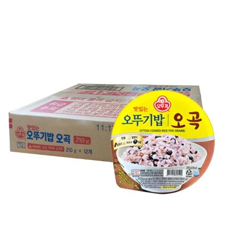 맛있는 오뚜기밥 햇반 햇밥 오곡밥 210g 12개입