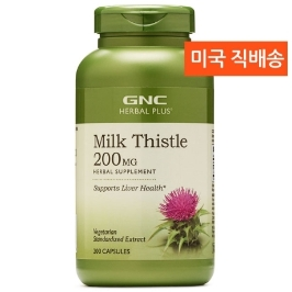 [지앤씨] [해외배송] 200정 GNC 밀크씨슬 실리마린 200mg