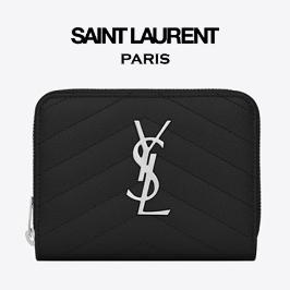 [입생로랑] [해외배송] 생로랑 모노그램 컴팩트 지퍼 반지갑