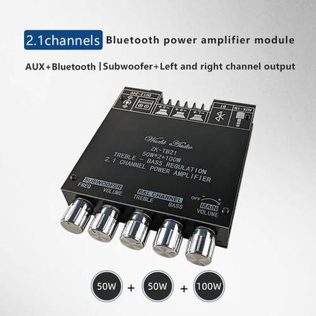 [해외] ZK-TB21 TPA3116D2 블루투스 5.0 서브 우퍼 앰프 보드 50WX2 + 10/3272983