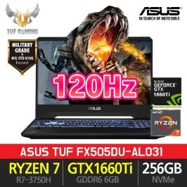 [최종97만] ASUS TUF FX505DU-AL031 라이젠R7-3750H GTX1660Ti NVMe256GB 게이밍노트북