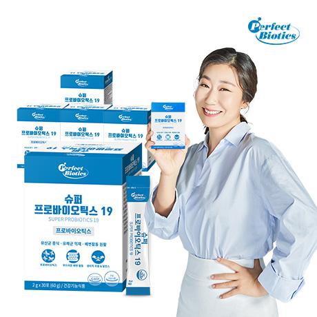 퍼펙트바이오틱스 슈퍼 프로바이오틱스 19 생 유산균 5박스 5개월분