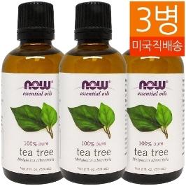 [해외배송] 3개 무배 나우푸드 티트리 오일 Tea Tree Oil 59ml