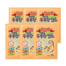 [원더배송] 두부랑 캣츠 고양이 모래 오리지널 7L X 6