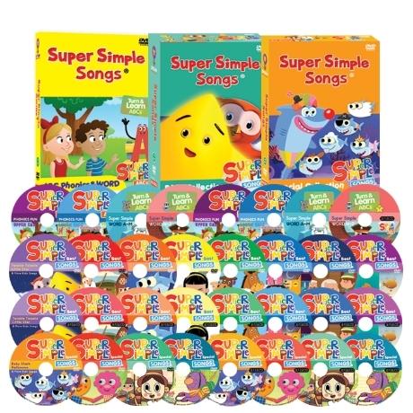 [5%적립]슈퍼심플송 SUPER SIMPLE SONG ABC 파닉스&워드+베스트+스페셜Collection DVD 32종전체세트