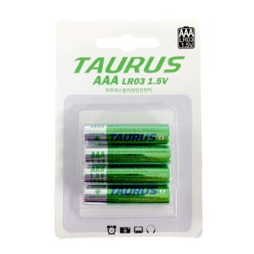 [싸고빠르다] 투러스 알카라인 1.5V 건전지 LR03 AAA (4개입)