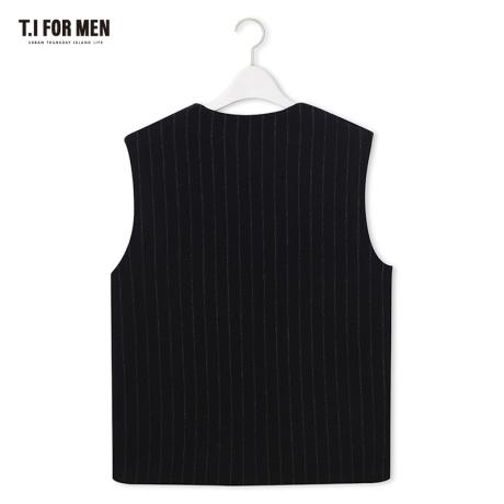 [티아이포맨] [TI FOR MEN] 티아이포맨 모혼방 스트라이프 베스트 M176MVT212M1NV5