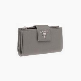 [프라다] [해외배송] 프라다 사피아노 더블폴딩 중지갑