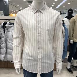 [모다아울렛] 닉스 린넨  스트라이프 셔츠 (컴포트핏) NNE CSL102 - 1