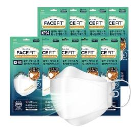 블루나 페이스핏 KF94 마스크 9개입 대형 (개별포장) 코로나 예방 끈조절 기능 피부보호 미세먼지 차단