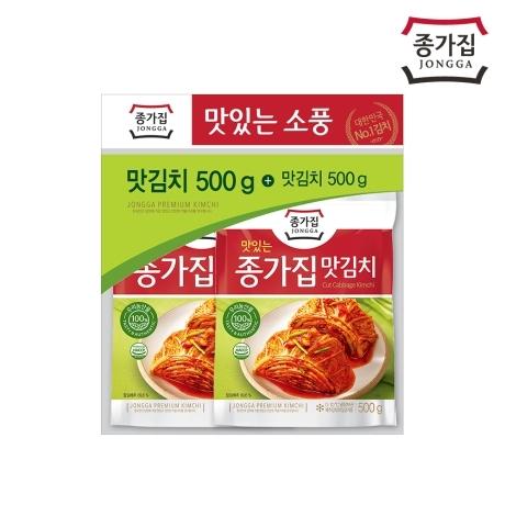 [종가집] [종가집공식판매몰] (캠핑나들이)종가집맛김치500gx2개