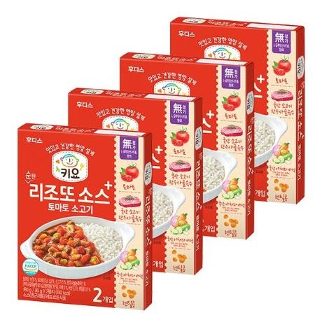 키요 순한 리조또 소스 토마토 소고기 180g×4개 (베)