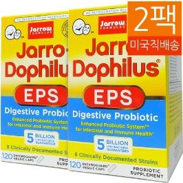 [해외배송] 2개 자로우 50억유산균 120정 Jarro-Dophilus EPS 120캡슐