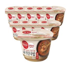 [원더배송] CJ 햇반 컵반 육개장국밥 260g x 10개