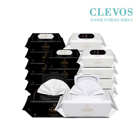 클레보스 두툼한 아기물티슈 에센셜+이노센트 캡형 20팩
