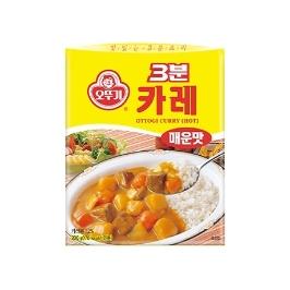 [싸고빠르다] 3분 카레 매운맛 200G 1개 (유통기한 21년 6월 24일)