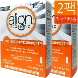 [커클랜드] [해외배송] 2개 얼라인 Align 프로바이오틱 보충제 30억 84캡슐