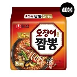 [원더배송] 농심 오징어짬뽕 40봉