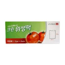 [싸고빠르다] 1월감사제_크린위생팩(소) 100매(10x17x25)