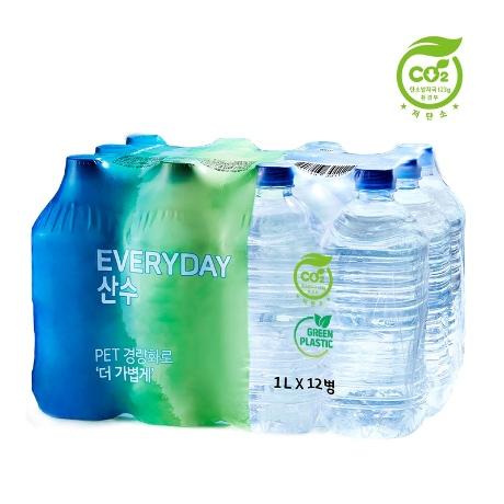[저탄소인증제품] everyday 산수 생수 1L x 24병