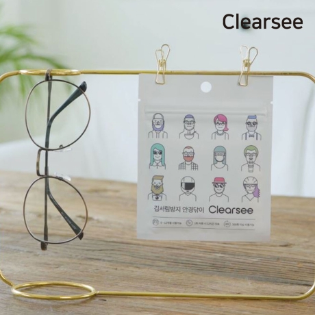 [클리어씨]클리어씨 김서림방지 클리너 고급 안경닦이 안티포그 습기제거 국내생산