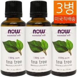 [해외배송] 3개 무배 나우푸드 티트리 오일 Tea Tree Oil 30ml