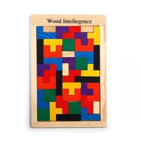 원목테트리스퍼즐 큐브 블럭 조립 퍼즐 완구 장난감