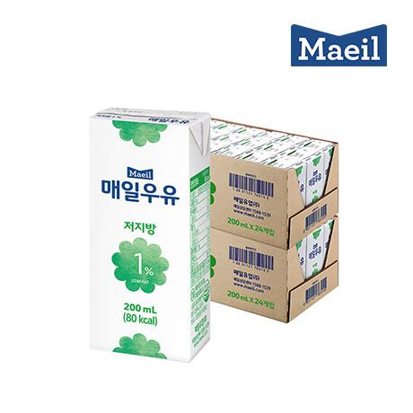 매일 멸균 흰우유 저지방1% 200mlX48팩
