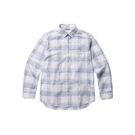 [에디션] 컬러 라인 윈도우  체크 셔츠