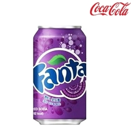 [싸고빠르다] 환타 포도 355ml 1캔 최신제조 뚱캔 음료수 음료 캔음료