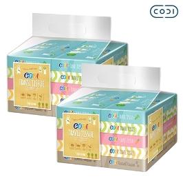 [원더배송] [원더쿠폰] 코디 여행용티슈 70매 10개 X 2팩 화장지