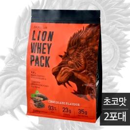 라이언 포대유청 단백질 보충제 초코맛 4kg(2팩)/ WPC 프로틴 쉐이크 파우더