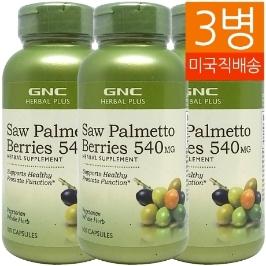 [지앤씨] [해외배송] 3병 GNC 쏘팔메토 베리 540mg 100정
