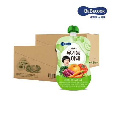 [베베쿡] 처음먹는 유기농 야채 2박스(100ml X 20팩)