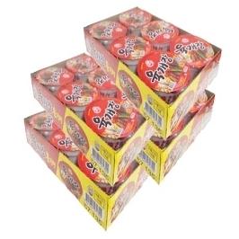 [원더배송] 육개장 컵라면 매운맛(용기)86g x 24개