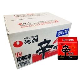 [원더배송] 농심 신라면 40봉 x 5박스 대용량 (총 200봉)