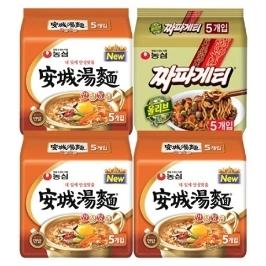 [원더배송] 농심 안성탕면15봉+짜파게티5봉