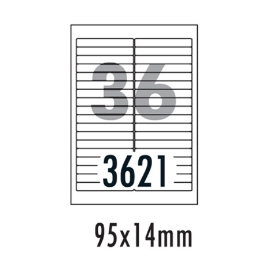 [폼텍] 화일인덱스용라벨 LQ362120매/36칸/95x14mm