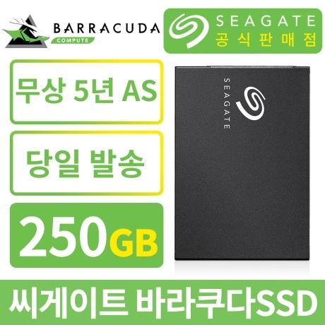 [씨게이트공식판매점] 씨게이트 바라쿠다 SSD 250GB / 5년 무상AS / 우체국 당일발송