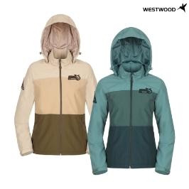 웨스트우드 여성 3단 배색 캠핑 자켓_WJ1WCJW218_