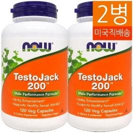 [해외배송] 2병 나우푸드 테스토잭 Testo Jack 200 120야채캡__