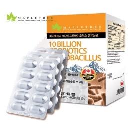 [원더배송] 메이플트리 100억 프로바이오틱스 생유산균 60캡슐 2병