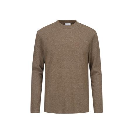 [지오지아] 하프 모크넥 데일리 티셔츠 브라운 ADA4TR1901