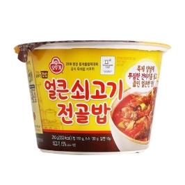 [원더배송] 오뚜기 컵밥 얼큰 쇠고기전골밥 290g 8개