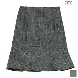 [투미] 2ME 변형체크 머메이드 스커트