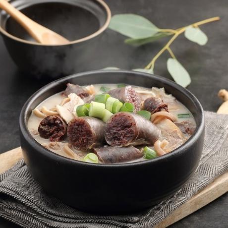 병천아우내순대 병천순대국밥세트 2인 / 육수600g+야채순대국밥