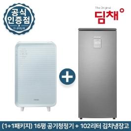 [딤채] ★ (전국무료배송) 1+1 위니아 딤채 20년신형 김치냉장고 EDS10DFMKSS 공기청정기 EPA16DAAP 패키지
